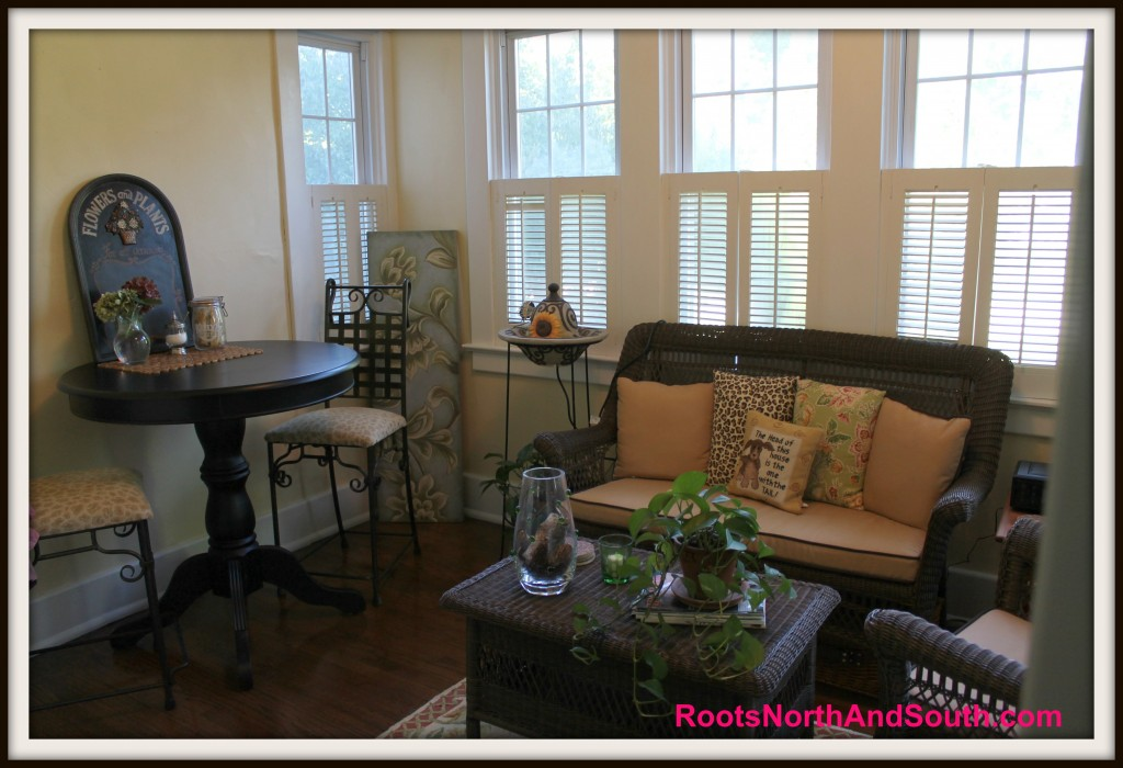 Historic home sunroom