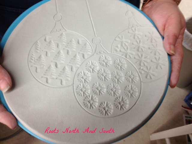 Holiday pottery plate