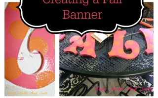 Fall Y'All: Creating a Fall Banner for Window Boxes