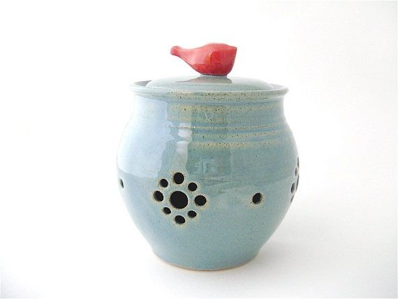 little pottery red bird
