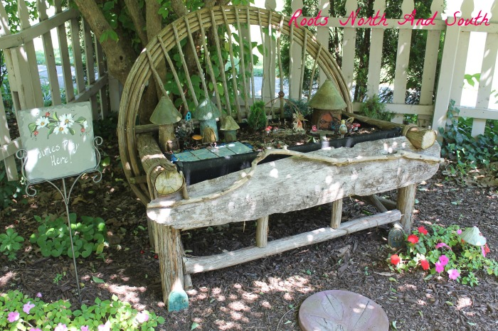 Fairy garden in historic home