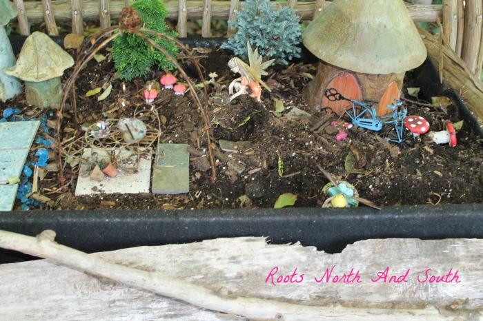 Throw down in the fairy garden