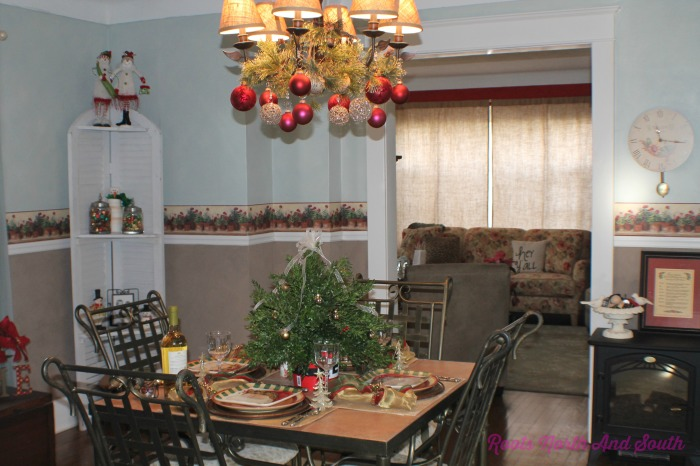 Historic Home Dining Room at Christmas