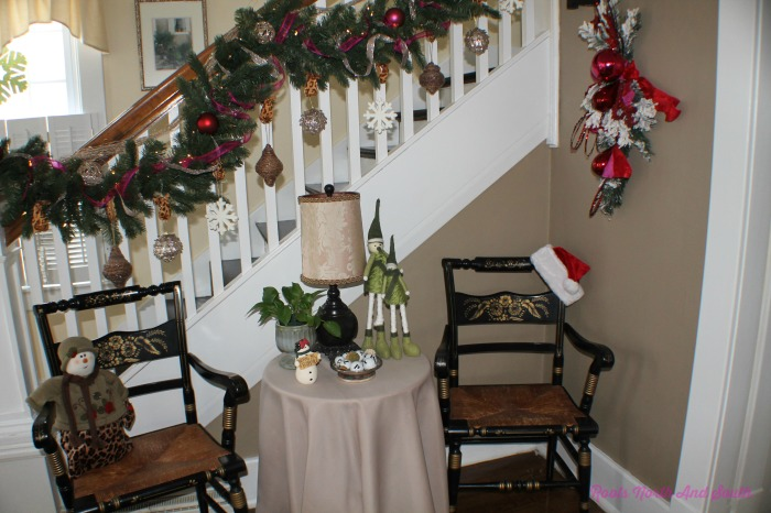 Entry Way Decorated for Christmas