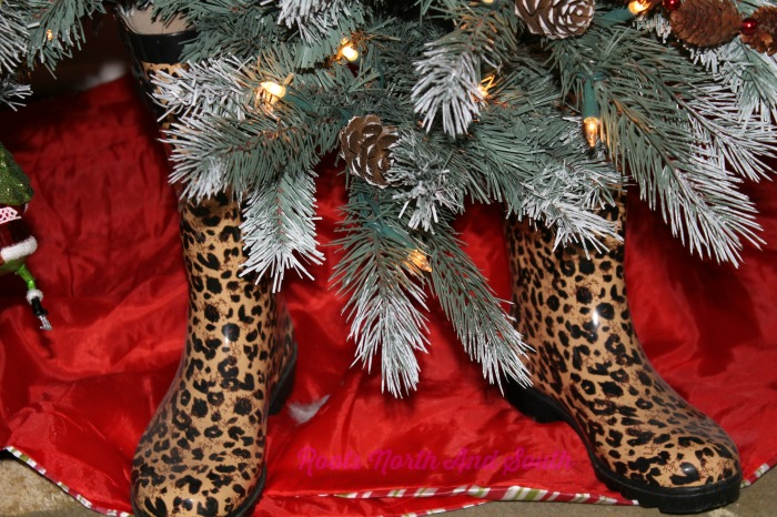 Leopard boots for the Christmas Tree