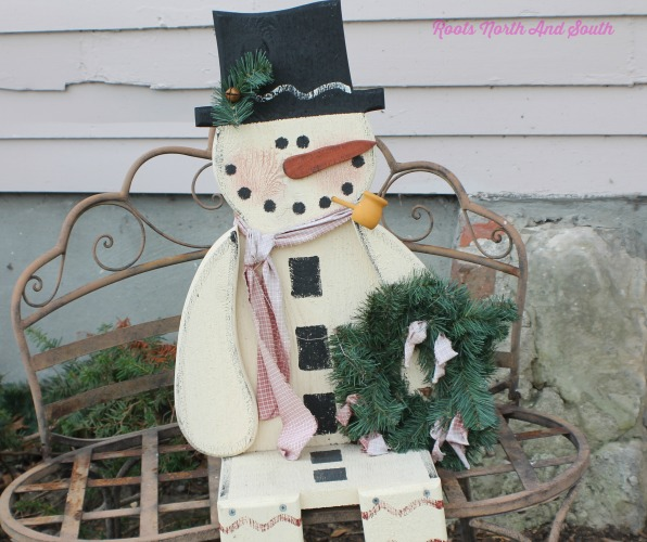 Snowman Greeter on Historic Home Toure