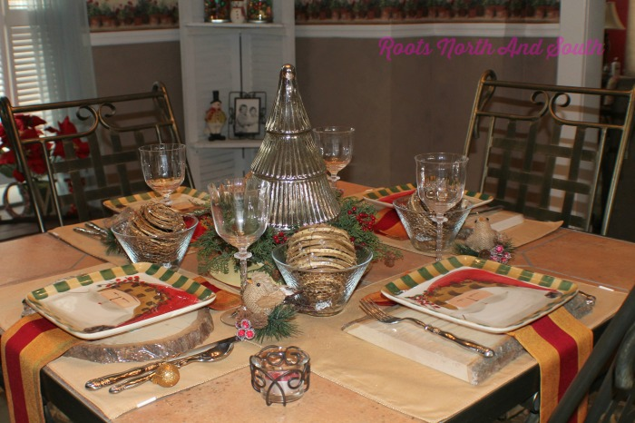 Christmas Tablescape for Soup and Salad Luncheon