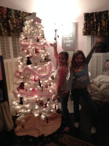 Decorating the Girly Girl Tree