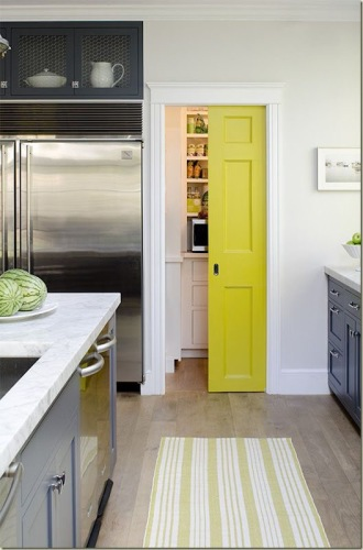 Pocket door for the pantry
