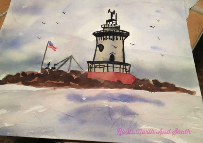 Creating a Watercolor Lighthouse