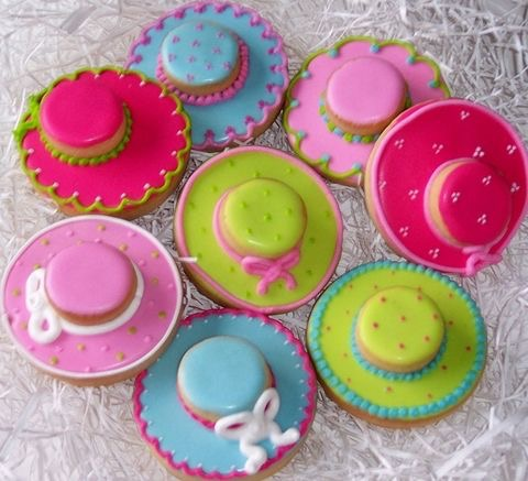 Iced Derby Hat Cookies
