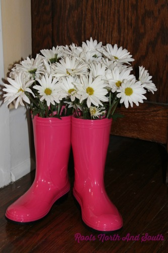 Pink Boots and Daisies