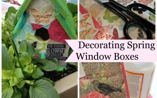 BirdHouses for Spring Windowboxes