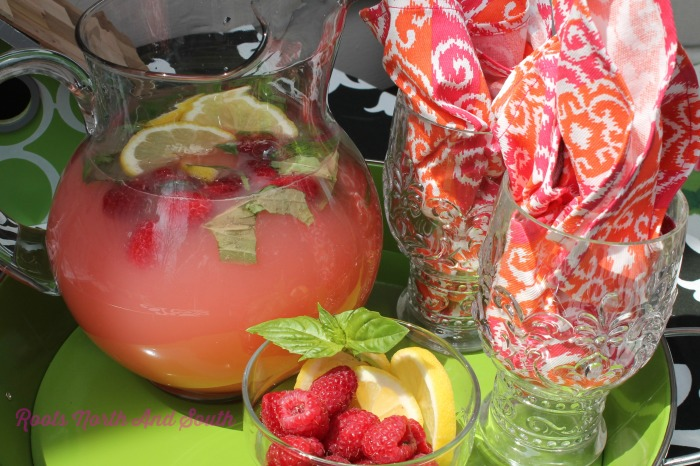 Raspberry Basil Lemonade
