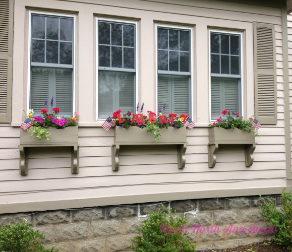 Window boxes on historic garden tour
