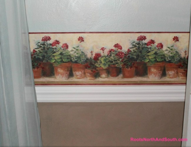 Geranium Border in Dining Room