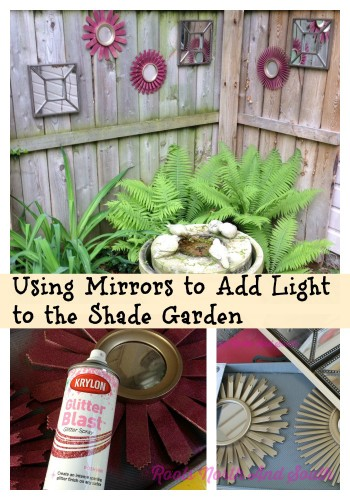 Adding light to a shady corner of the garden with mirrors