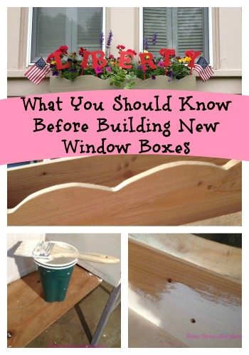 What to know before you build window boxes