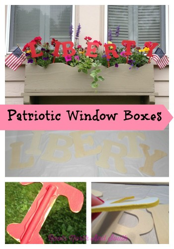 Creating a patriotic window box