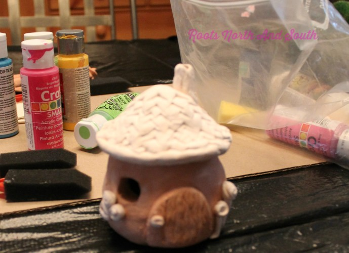 Creating a pottery cottage for the miniature garden
