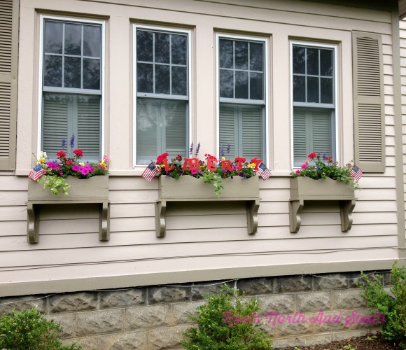 Creating Patriotic Window Boxes