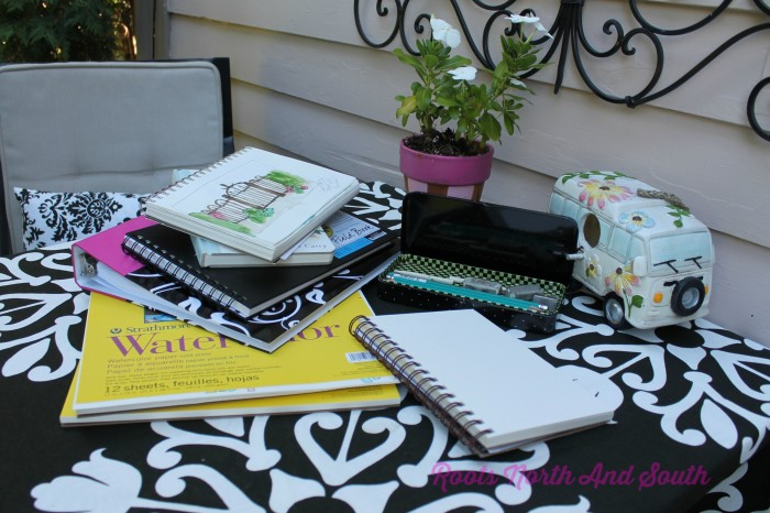 Art projects on the summer porch