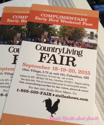 Free Tickets to Country Living Fair in Columbus