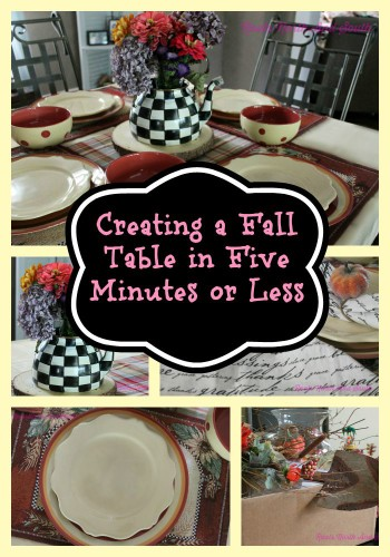 5 Minute Fall Table