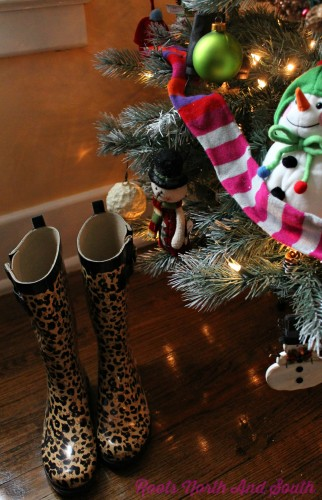Leopard Boots for my Christmas Tree
