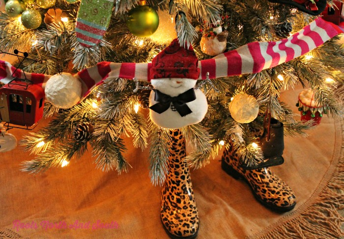 Leopard Boots for Our Christmas Tree