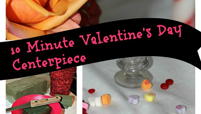 10 Minute Valentine's Day Centerpiece
