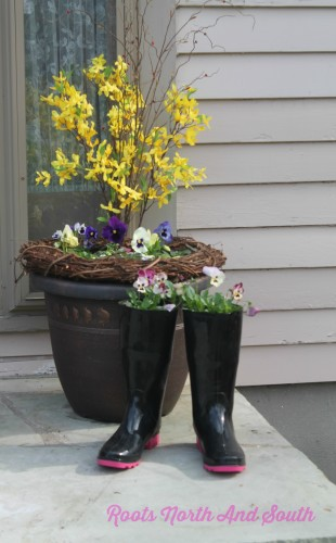 A Boot Full of Pansies
