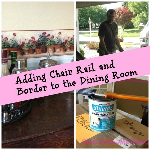 New House Dining Room Makeover: Chair Rail and Border - Roots North ...