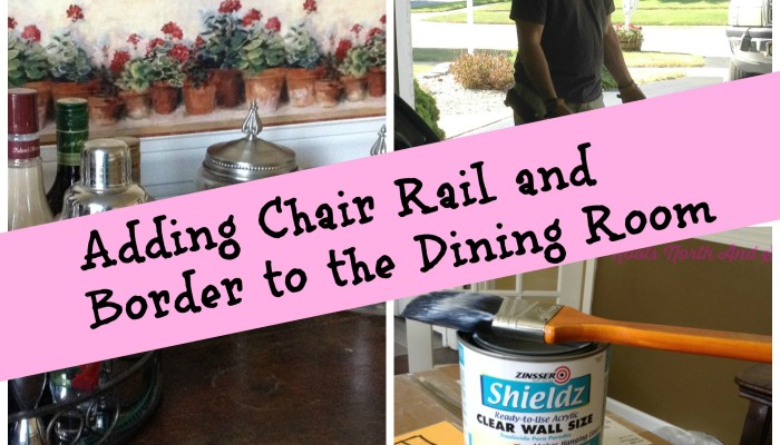 New House Dining Room Makeover: Chair Rail and Border