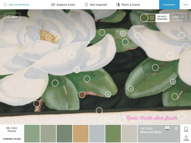 Matching paint colors is a quick snap roots north south for Paint color matching app