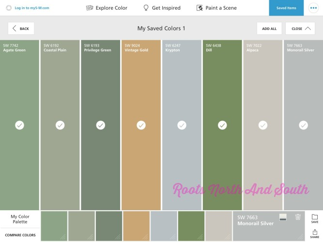 matching paint colors is a quick snap - roots north & south