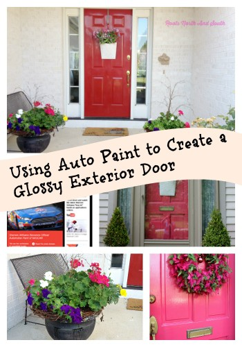 Using Auto Paint On An Exterior Door Roots North Uamp South With Pink Front  Door Paint.