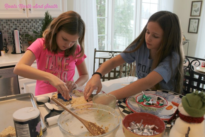 Making homemade dog treats with kids
