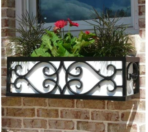 Ordering wrought iron window boxes