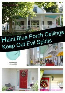 Painting a porch ceiling blue