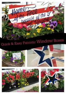 Creating July 4th window boxes